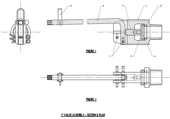 Final design drawing for cocky valve